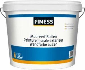 FINESS MUURVERF MAT BUITEN - Voor duurzame afwerking van buitengevels en muren en plafonds in woon- en slaapkamer, keuken en badkamer. Ademend en reukarm - 5L WIT