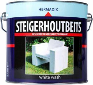 Hermadix Steigerhoutbeits - 2,5 liter- White wash