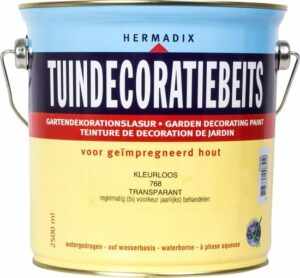 Hermadix Tuindecoratiebeits 768 Kleurloos - 2.5 l