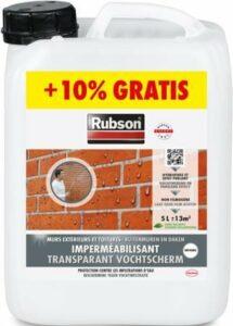 Rubson Transparant Vochtscherm Coating Buitenmuur - 5.5 Liter - Transparant