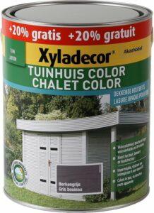 Xyladecor Tuinhuis Color - Houtbeits - Berkengrijs - Mat - Promo 3L