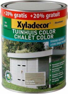 Xyladecor Tuinhuis Color - Houtbeits - Nevelgrijs - Mat - Promo 3L