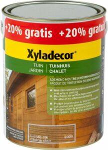 Xyladecor Tuinhuis - Houtbeits - Lichte Eik - 2,5 + 0,5 Liter